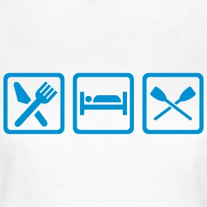 Eat sleep Rudern T-Shirts - Frauen T-Shirt