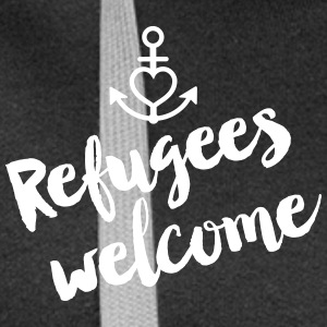 Refugees Welcome - Frauen Premium Kapuzenjacke