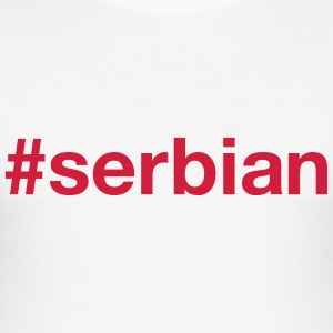 SERBIA T-Shirts - Men's Slim Fit T-Shirt