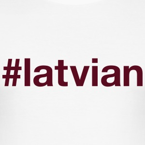 LATVIA T-Shirts - Men's Slim Fit T-Shirt