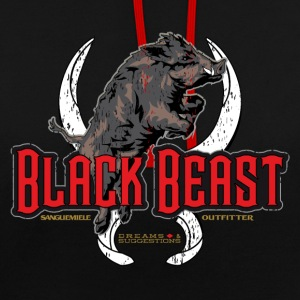 black beast boar Hoodies & Sweatshirts - Contrast Colour Hoodie