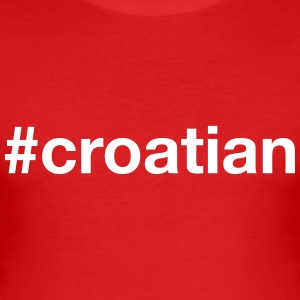 CROATIA T-Shirts - Men's Slim Fit T-Shirt