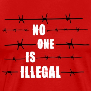 No one is illegal T-shirts - Herre premium T-shirt