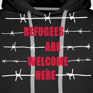 Refugees are welcome here Pullover & Hoodies - Männer Premium Hoodie
