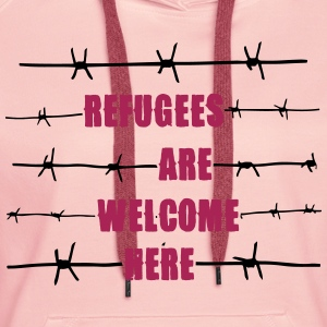 Refugees are welcome here Pullover & Hoodies - Frauen Premium Hoodie