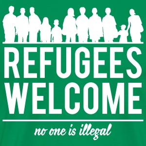 Refugees welcome T-shirts - Herre premium T-shirt