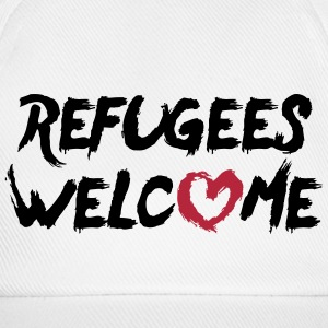Refugees welcome + heart Caps & Hats - Baseball Cap