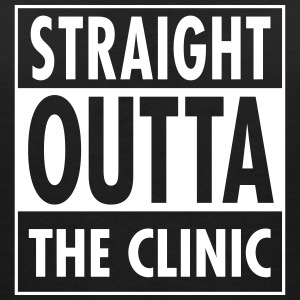 Straight Outta The Clinic T-shirts - Vrouwen T-shirt met V-hals