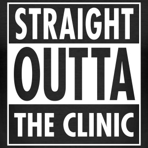 Straight Outta The Clinic T-shirts - Slim Fit T-shirt herr