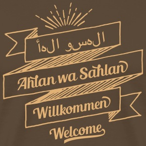 Welcome (arabic, german, english) T-Shirts - Men's Premium T-Shirt