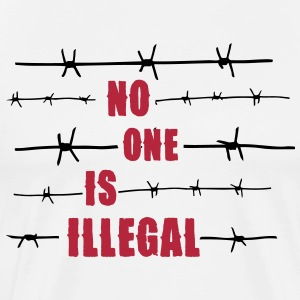 No one is illegal Magliette - Maglietta Premium da uomo