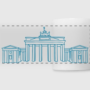 Brandenburg Gate in Berlin Mugs & Drinkware - Panoramic Mug