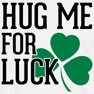 Hug Me For Luck T-shirts - Mannen Premium T-shirt