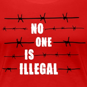 No one is illegal T-shirts - Premium-T-shirt dam