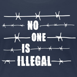 No one is illegal T-Shirts - Frauen Premium T-Shirt