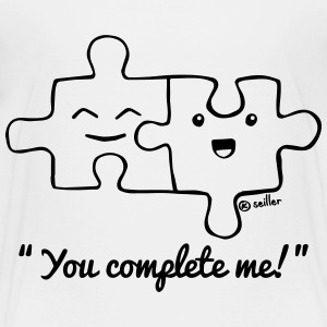 White You complete me Shirts - Kids' Premium T-Shirt