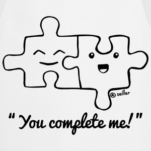 White You complete me  Aprons - Cooking Apron