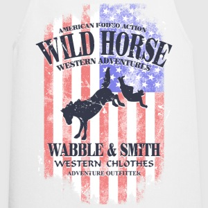 Wild Horse Rodeo - USA Vintage Flag  Aprons - Cooking Apron