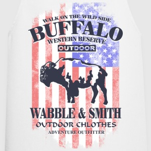Western Buffalo - USA Vintage Flag  Aprons - Cooking Apron