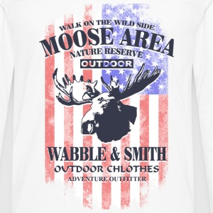 American Moose - USA Vintage Flag Long sleeve shirts - Men's Premium Longsleeve Shirt