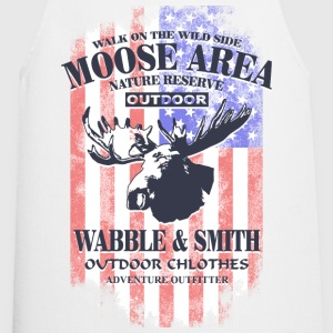 American Moose - USA Vintage Flag  Aprons - Cooking Apron