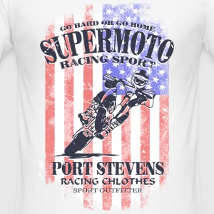 Supermoto Racing - USA Vintage Flag T-Shirts - Men's Slim Fit T-Shirt