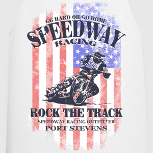 Speedway Racing - USA Vintage Flag  Aprons - Cooking Apron