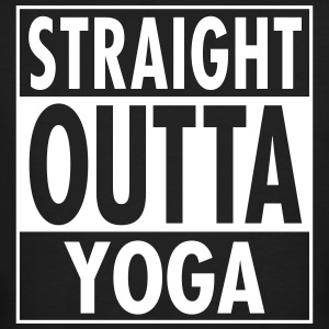 Straight Outta Yoga T-shirts - Mannen Bio-T-shirt