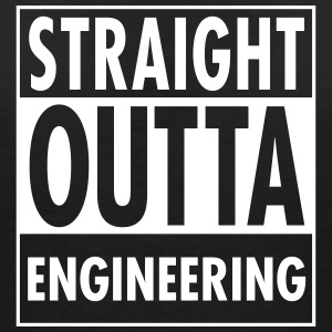 Straight Outta Engineering T-shirts - Vrouwen T-shirt met V-hals