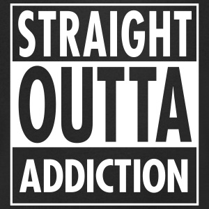 Straight Outta Addiction T-Shirts - Men's V-Neck T-Shirt