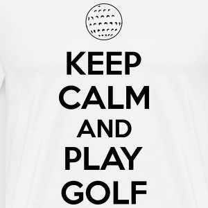 Keep calm and play golf Magliette - Maglietta Premium da uomo