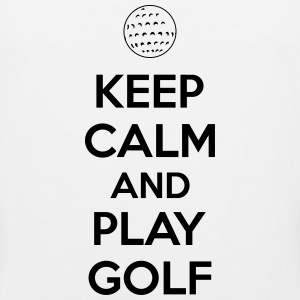 Keep calm and play golf Singlets - Premium singlet for menn