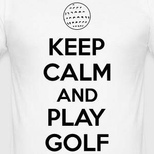 Keep calm and play golf T-skjorter - Slim Fit T-skjorte for menn