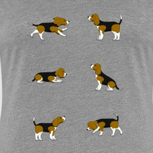 Beagle selection T-shirts - Vrouwen Premium T-shirt