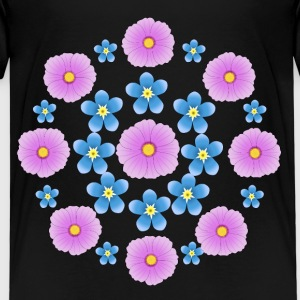 Flowers pink and blue Camisetas - Camiseta premium niño