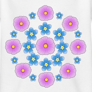 Flowers pink and blue Shirts - Kinderen T-shirt