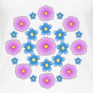 Flowers pink and blue Tops - Camiseta de tirantes orgánica mujer