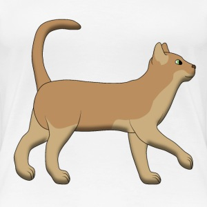 Brown cat goes T-shirts - Dame premium T-shirt