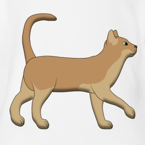 Brown cat goes Shirts - Baby bio-rompertje met korte mouwen