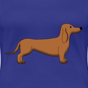 Dachshund Brown T-Shirts - Women's Premium T-Shirt