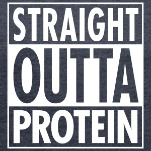 Straight Outta Protein T-shirts - Dame T-shirt med rulleærmer