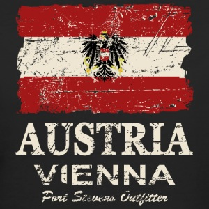 Austria Flag - Vintage Look T-Shirts - Frauen Bio-T-Shirt