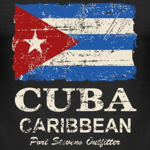 Cuba Flag - Vintage Look T-Shirts - Männer Slim Fit T-Shirt