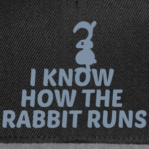i know how the rabbit runs denglisch hase kaninche Caps & Mützen - Snapback Cap