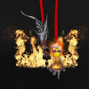 dragon2 with skull Hoodies & Sweatshirts - Contrast Colour Hoodie