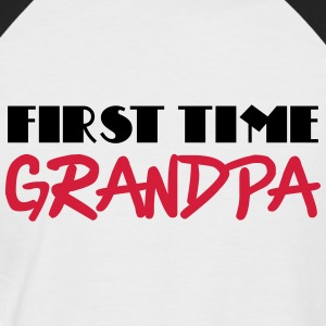 First time grandpa T-skjorter - Kortermet baseball skjorte for menn
