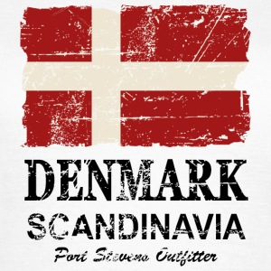 Denmark Flag - Vintage Look T-Shirts - Frauen T-Shirt