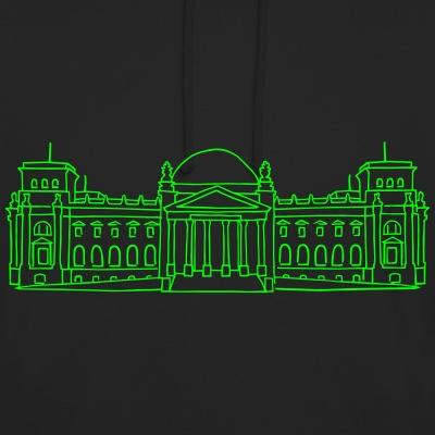 Bundestag neon-grün Berlin Reichtag Gebäude