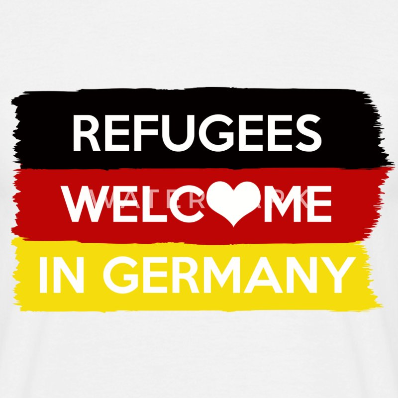 Refugees Welcome in Germany - Männer T-Shirt