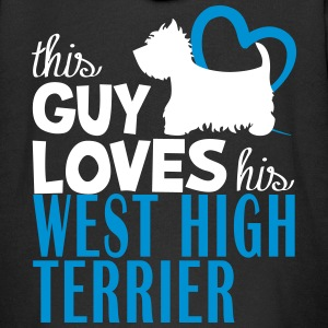 This guy loves his west high terrier Felpe - Felpa con zip Premium per bambini